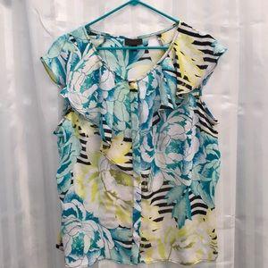 Worthington Woman's Short sleeve blouse size XL,